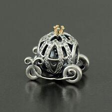 New Authentic Pandora Disney Cinderella's Pumpkin Coach Charm No.791573CZ