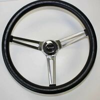 70's Fury Scamp Duster Cuda GTX RR Black Steering wheel Stainless Spokes 15""