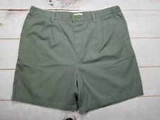 Knightsbridge Men's Size 42 Green Shorts Pleated Summer Casual Shorts