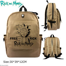 Anime Rick and Morty Backpack Satchel Schoolbag Canvas Laptop Bag Cosplay Gift