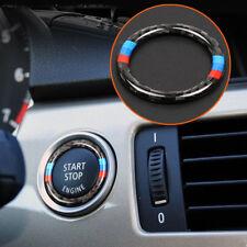 Fibra de carbono clave Inicio botón anillo Decor Trim para BMW 3 series E90/E92/