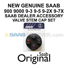 New Genuine Saab Tire Valve Stem Cap Set Griffin Logo 9-3 9-5 900 9000 9-7X Oem