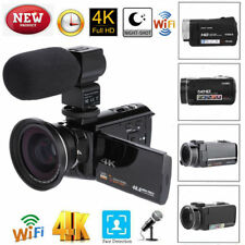 4K UHD WiFi 16X Zoom 48MP Touchable Screen Digital Video Camera Camcorder Set WT