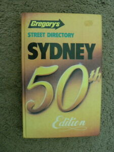 Gregory's Street Directory Sydney 50th ed 1985 Near mint cond, make an offer