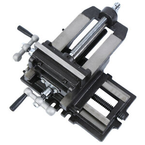 "5"" Cross Drill Press Vise Slide Metal Milling 2 Way X-Y Clamp Machine Heavy Duty"
