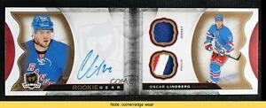 2015-16 Upper Deck The Cup Gear Booklets 21/24 Oscar Lindberg Rookie Auto READ
