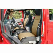 Jeep Wrangler Jk 11-17 Front Seat Covers Black W/ Tan  X 13215.04