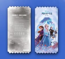 Disney Frozen2 Sing Along Korea Mega Box Original Cinema Limited Movie Ticket