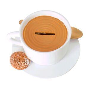 Spardose Kaffeetasse Sparschwein Cappuccino Sparbüchse Kaffeekasse Keks