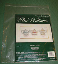 Elsa Williams *Tea For Three* Counted Cross Stitch Picture Kit - #02088