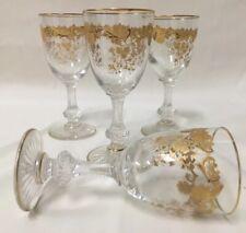 (4) Saint Louis MASSENET 4.25 Inch CORDIAL GLASSES - Mint!