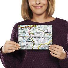 A5 - Kitzbuhel Austria Town Europe Travel Map Print 21x14.8cm 280gsm #45478