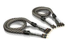 3, 00 M VIABLUE SC-6 air argenté Bi-Wire Câble pour haut-parleur 3,0M 3M (