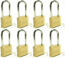Lock Brass Master Combination #175LH (Lot of 8) Long Shackle Resettable Secure