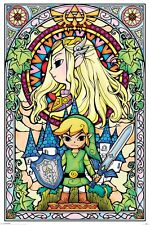 Poster THE LEGEND OF ZELDA - Stained Glass (Game) ca60x90cm NEU 58663