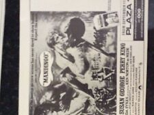m5-3a ephemera 1970/s film advert mandingo susan george