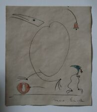 Pencil drawing watercolor signed MAX ERNST