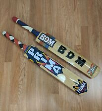 Lot of 2 Wooden Cricket Bats BDM Dyna Drive and Prima Boundary