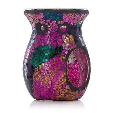 Ashleigh & Burwood Classic Glass Mosaic Purple Rain Fragrance Oil Burner Gift
