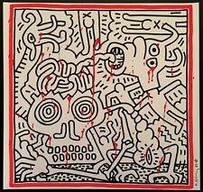 Keith Haring - Pop Art - Large Original Marker / Paint Drawing (VII-IV)