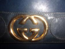 Gucci originale borsa vintage vera pelle blu rara da collezione