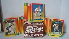 "1990 TOPPS Baseball Picture Cards ""Traded"" Series Cards 1-T through 132-T"