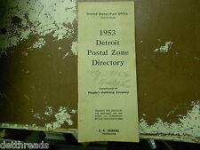 VINTAGE DETROIT POSTAL DIRECTORY - 1953 - United States Post Office