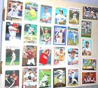 Lot of 100 MLB Baseball Trading Cards - assorted teams, players, years & brands