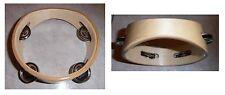 Tamburello in legno, cembalo, 4 paia di piattini in metallo, diametro cm 14,5