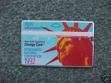 New York Telephone Phonecard Democrat Convention UNUSED