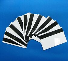 10PCS Blank PVC HiCo Magnetic Stripe Cards w/ Protective Film ID 3-Track White