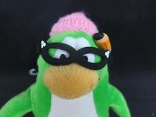 DISNEY CLUB PENGUIN NO CODE GREEN PINK HAT PENCIL PLUSH STUFFED ANIMAL TOY