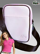 LACOSTE Womens Cross-over Shoulder Bags Classic 2.3 Petal Pink (black) AUTHENTIC