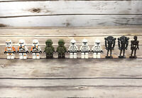 LEGO Star Wars Minifigures Clone Troopers Kashyyyk 212th Assassin Droids Lot