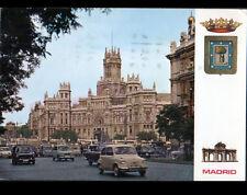 MADRID (ESPAGNE) CITROEN 2CV , FIAT & RENAULT 4L ,DAUPHINE au BUREAU DE POSTE
