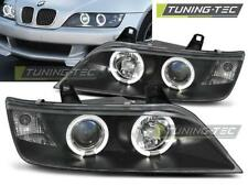 COPPIA FARI ANTERIORI BMW Z3 01.96-02 ANGEL EYES BLACK*655