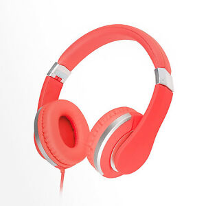RockPapa Girls Foldable Headsets Headphones Pink for Kindle Fire HD iPod iPad VR