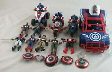 "Marvel Universe Captain America 3.75"" Loose Action Figure Lot plus Vehicles"