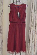 Stunning Debenhams Début Red Net Party Dress Size 8 BNWT