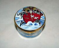 "Alastor Enamels Vintage Collectible Noah's Ark Hinged Trinket Box England 2 3/8"""