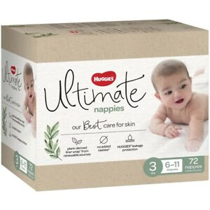 Huggies Ultimate Nappies Unisex Size 3 (6-11kg) 72 Pack