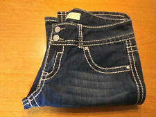 00006000 Women's Almost Famous Premium Juniors Size 11 Jewel Bootcut Blue Jeans Inseam 32