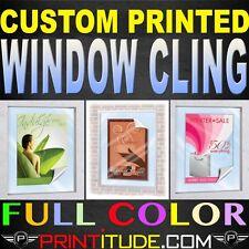 "QTY:3 CUSTOM PRINTED WINDOW CLING FULL COLOR 12""X18""  SELF CLING+FREE DESIGN"