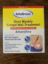 Schollmed Once Weekly Fungal Nail Treatment, 2.5ml New Sealed Amorolfine