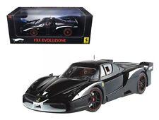 ELITE EDITION FERRARI FXX EVOLUZIONE BLACK 1/18 MODEL CAR BY HOTWHEELS T6249