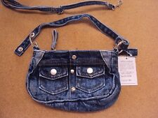 Women Stonewashed Blue Denim Jeans Cute Handbag Shoulder Crossbody Bag