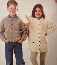 FK29 - Knitting Pattern - Children's Aran Cardigan Jackets - 2 Styles