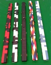 Rosetta Limited Edition Patchwork Diamond Leather Pool Snooker 1 piece cue case.