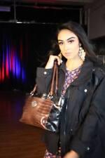 Giani Bernini Florentine Glazed Leather Filigree Hobo Purse~Black~retail $179