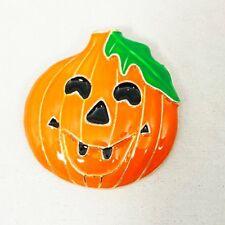 Happy Halloween Pumpkin Jack O Lantern Orange Smiley Face Pin Brooch